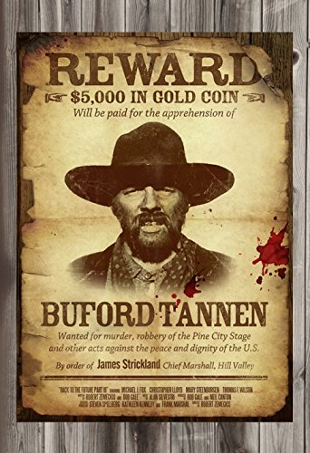 Gatsbe Exchange Wanted Poster Buford TANNEN Dead OR Alive 12
