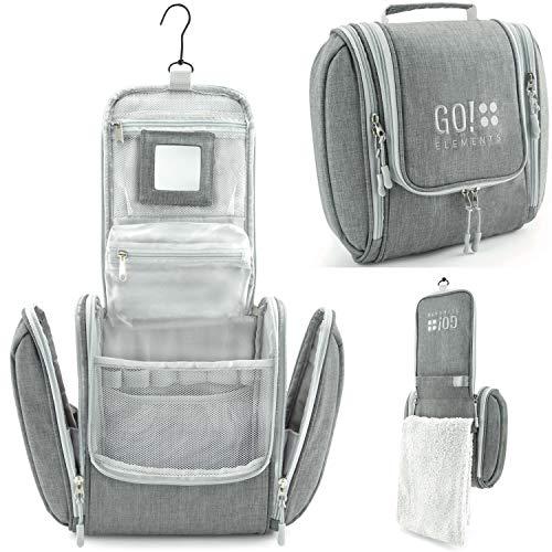 🥇 GO!elements® Bolsa de Aseo para Colgar Hombres y Mujeres | Neceser cosmético Hombre Grande Mujer para Maletas y Equipaje de Mano | Neceser de Viaje
