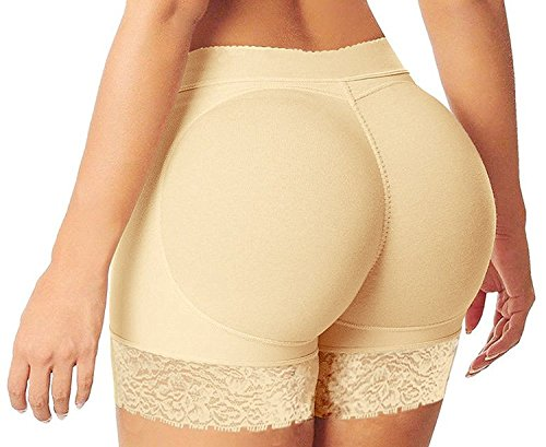 67ac410fd6ae4 HelloTem Women Lace Padded Seamless Butt Hip Enhancer Shaper Panties  Underwear