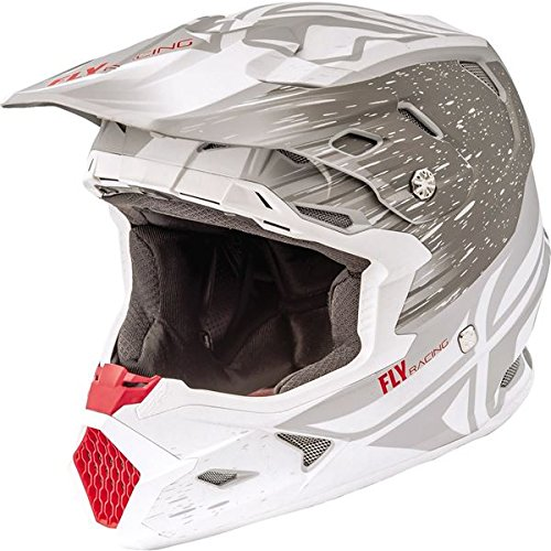 Fly Racing 2018 Fly Racing Toxin Resin Helmet-Matte White/Grey-S -