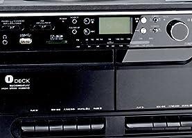 Minicadena con tocadiscos Radio casete y USB SD MMC MP3s: Amazon ...