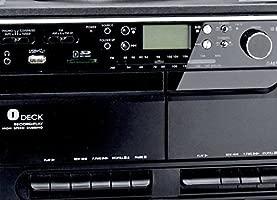 Minicadena con tocadiscos Radio casete y USB SD MMC MP3s ...