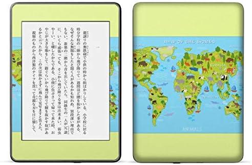 igsticker kindle paperwhite 第4世代 専用スキンシール キンドル ペーパーホワイト タブレット 電子書籍 裏表2枚セット カバー 保護 フィルム ステッカー 015952 世界地図 wordmap