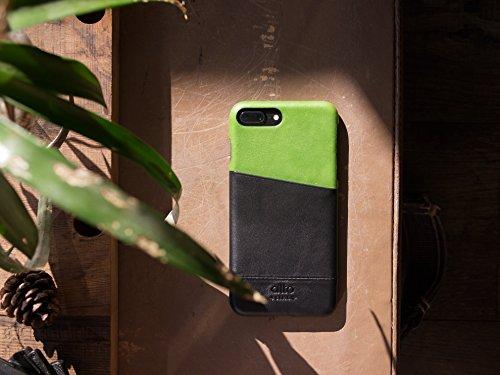 alto Handmade Premium Italian Leather Wallet Case for Apple iPhone 8 Plus / iPhone 7 Plus Metro (Lemon/Raven) by Alto (Image #7)