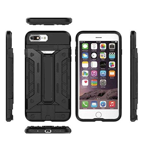 """5.5"""" iPhone 7 Plus Coque, AOFad Case Protection des lourds Béquille D'insertion de carte rouge Plastique Vidéo Armure Accessoires Série Pour Femme Homme L038"""