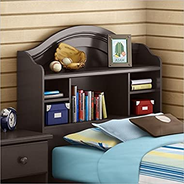 South Shore Summer Breeze Collection Twin 39-Inch Bookcase Headboard, Chocolate