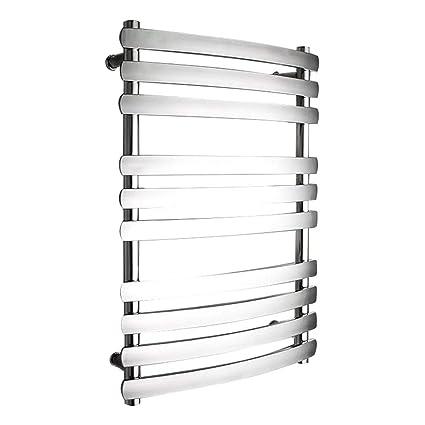 HDLWIS Toallero eléctrico, Calentador de Toallas de baño de Cromo Recto Piso de calefacción de