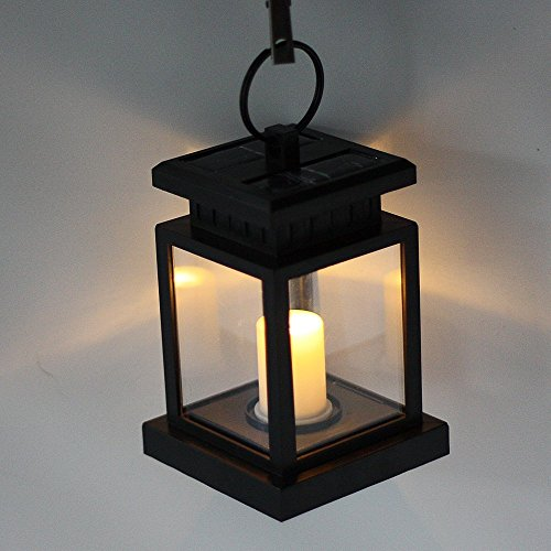 fami outdoor vintage solar powered black hanging lantern beachfront decor. Black Bedroom Furniture Sets. Home Design Ideas