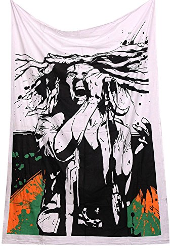 ONE LOVE Bob Marley Tapestry Wall Hanging Rasta Tapestry Reggae Tapestries hippie Tapestry Dorm Decor Bohemian Bedspread Bedding Bed cover curtain Beach - Marley Wall Bob Hangings