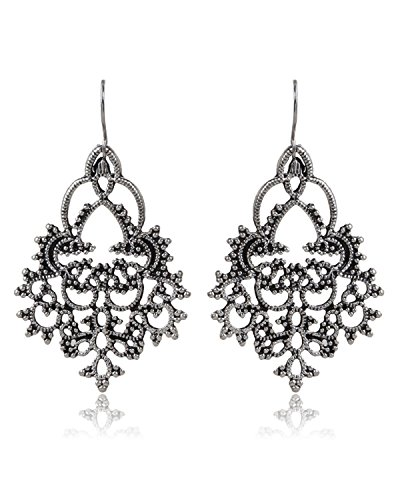 Young & Forever Women's Tribal Muse Filigree Dangle & Drop Earrings Fancy Party Wear Earrings by Young & Forever