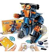 POKONBOY Building Blocks Robot Kit for Kids,App Controlled STEM Toys Science Engineering Kit DIY ...