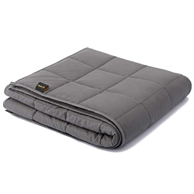 """Fabula Life 15lbs Weighted Blanket for Adults, Premium Cotton Heavy Blanket with Glass Beads, Queen Size (80""""x60"""", 15 lb)"""