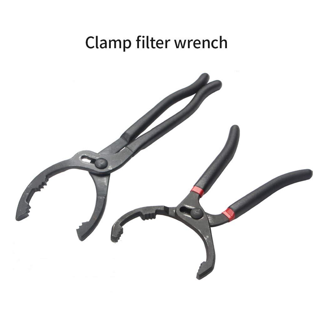 reparar instalar objetos de apriete junta deslizante de ajuste r/ápido para quitar llave de filtro de aceite Abrazadera Llave de filtro de aceite de dientes grandes uniformes