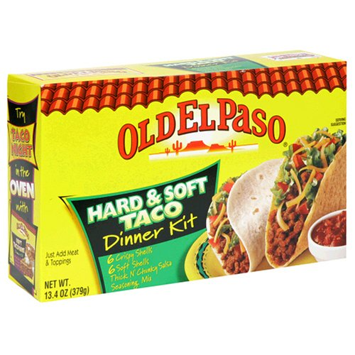 UPC 046000814247, Old El Paso Dinner Kits, Hard & Soft Tacos, 13.4-Ounce Boxes (Pack of 12)