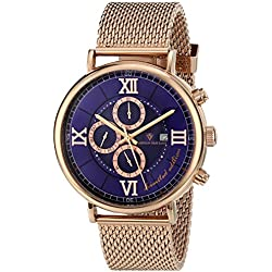 Christian Van Sant Men's CV1128 Somptueuse Limited Edition Rose Gold-Tone Stainless Steel Watch