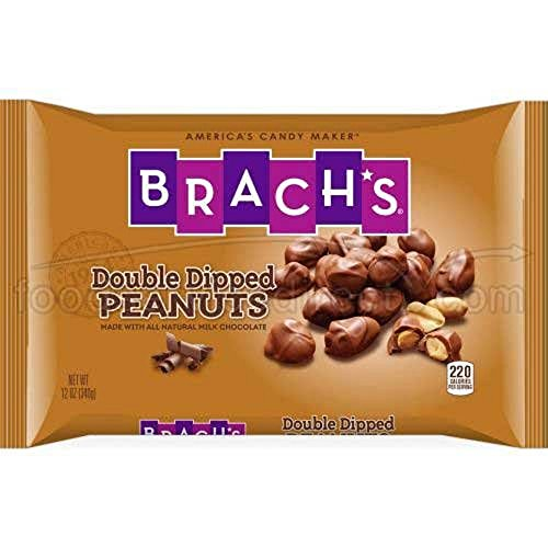 - Brach's, Dipped Nuts Candy, 12oz Bags (Pack of 3) (Choose Flavors Below) (Double Dipped Peanuts)