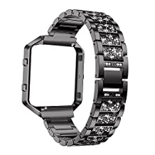 For Fitbit blaze bands Chofit Replacement stainless steel watch band Bling Bling Crystal style Metal Frame bracelet wristband strap for Fitbit blaze Smart Fitness Watch