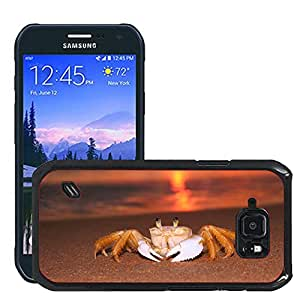 Just Phone Cases Etui Housse Coque de Protection Cover Rigide pour // M00421724 Siri Sunrise Beach // Samsung Galaxy S6 Active SM-G890 (Not Fit S6)