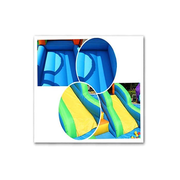 51ZKOJyCADL El castillo es perfecto para la imaginación y el juego de los niños. Si no se utiliza durante mucho tiempo, por favor embalado y, al mismo tiempo, prestar atención a los insectos de control de roedores, el tamaño es muy mecedora proporciona suficiente espacio interior libre de rebote, y con unos parámetros de seguridad al aire libre rápido y cómodo de tocones suelo. La parte inferior castillo hinchable tiene un diseño antideslizante de espesor, una mayor capacidad de salto, que está rodeado por una valla protectora gruesa, es segura, los niños juegan en la fortaleza, no se preocupe, su hijo será herido.