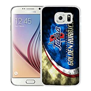 NCAA Tulsa Golden Hurricane 8 White Hard Shell Phone Case For Samsung Galaxy S6