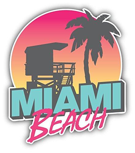 Miami Beach USA Vinyl Decal Bumper Sticker 4'' X 5''