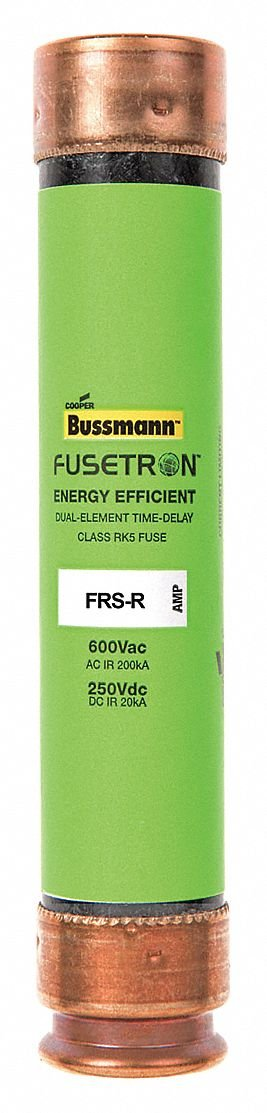 40A Time Delay Fiberglass Fuse with 600VAC/250VDC Voltage Rating; FRS-R Series