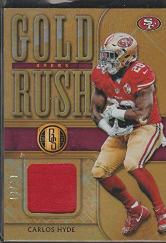 newest bc366 41562 Amazon.com: 2017 Gold Standard Carlos Hyde 49ers 19/99 Gold ...