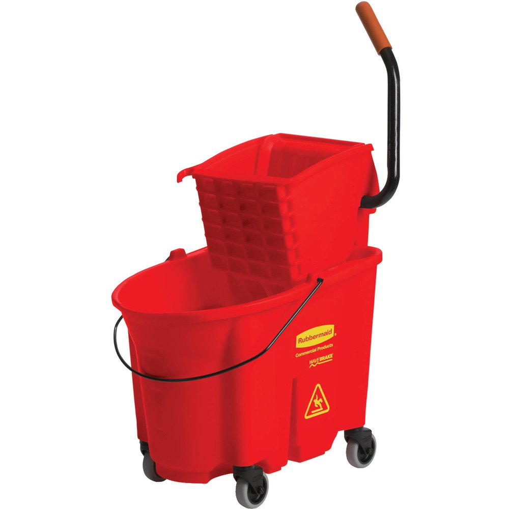 Rubbermaid Commercial FG758888RED WaveBrake High-Performance Side Press Combo, Red