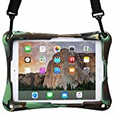 Acer Predator 8 case, COOPER TROOPER 2K Shoulder Strap Rugged Heavy Duty Tough Protective Drop Shock Proof Rubber Silicon Carry Kids Toy Work Holder Cover Bag, Stand Acer Predator 8 (Military)