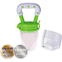 Cherub Baby Fresh Food Feeder with Replacement Nets, Green