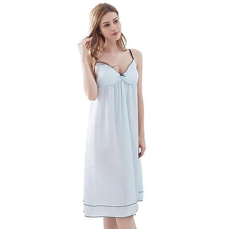 Pijamas de Vestido de Seda de Verano Sexy Sling camisón Falda ...