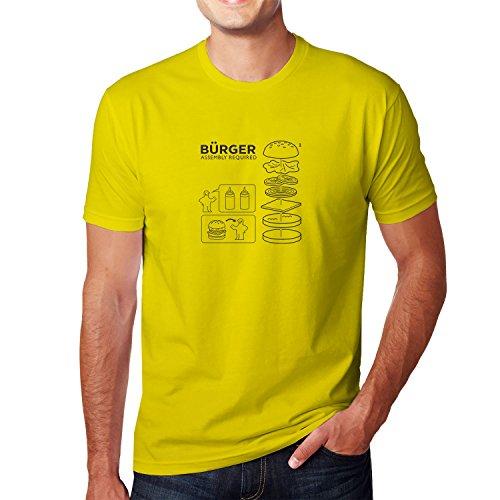 Planet Nerd - Bürger Assembly required - Herren T-Shirt, Größe L, gelb