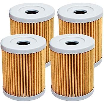 4 Pack Yerbay Motorcycle Oil Filter for Kawasaki KFX400 KFX 400 2003-2006 / KLX400SR 2003 52010S004
