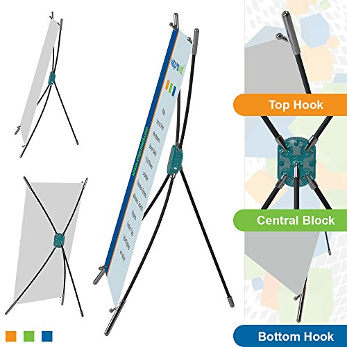 Mini Desktop X-Banner Stand for 9.8in. x 15.7in. Graphics - Banner Stand for Countertops and Tables (5 Pieces)