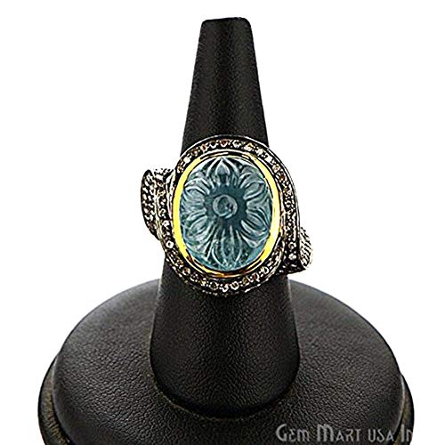 g, 14.45 cts Aquamarine with 2.42 cts of Diamond as Accent Stone (DR-12158) ()