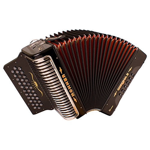 Hohner Corona Xtreme II Accordion, 34 Button, EAD, Black by Hohner Accordions (Image #1)