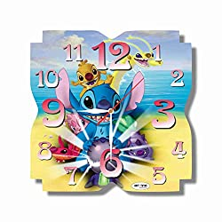 Art time production FBA Lilo & Stitch 11.8'' Handmade Unique Wall Clock - Get Unique décor for Home or Office - Best Gift Ideas for Kids, Friends, Parents