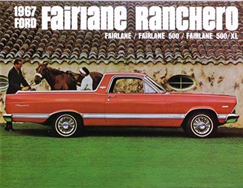 1967 Ford Fairlane Ranchero Sales Brochure Literature Advertisement Options (Brochure Ranchero)