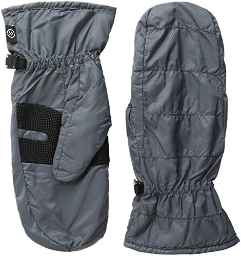 Isotoner Women's smarTouch Packable Mittens with NeverWet, Charcoal, Large