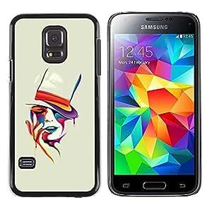 EJOY---Cubierta de la caja de protección la piel dura para el ** Samsung Galaxy S5 Mini, SM-G800 ** --Cara colorida