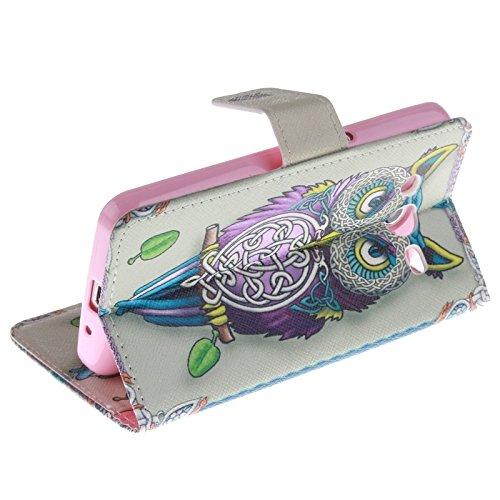 Fashion & personality Plum patrón horizontal Flip caja de cuero con el titular y ranuras para tarjetas y cartera para Samsung Galaxy Core II / G355H ( SKU : S-SCS-3687C ) S-SCS-3687G
