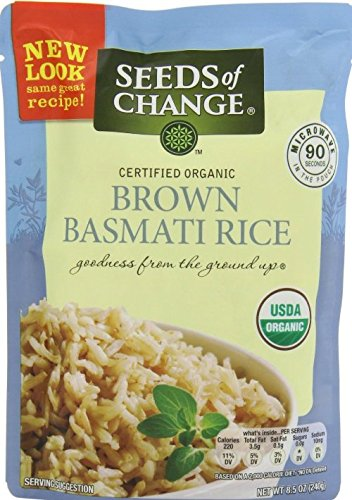 Seeds of Change Microwavable Rice, Whole Grain Brown Basmati Rice, 6 Count by Seeds Of Change