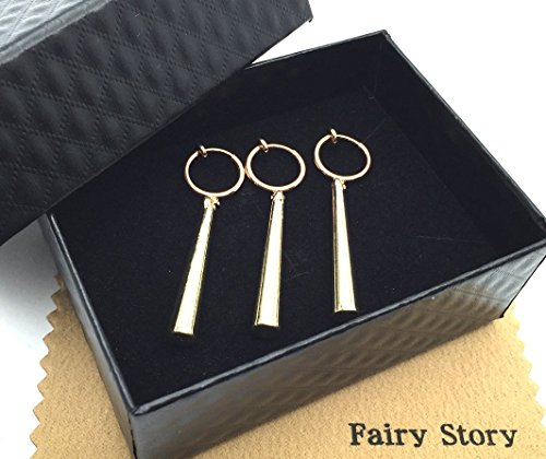 【Fairy Story】 ワンピース ONE PIECE ロロノア・ゾロ モチーフ コスプレ ピアスみたいに見えるイヤリング【クロス&箱あり】
