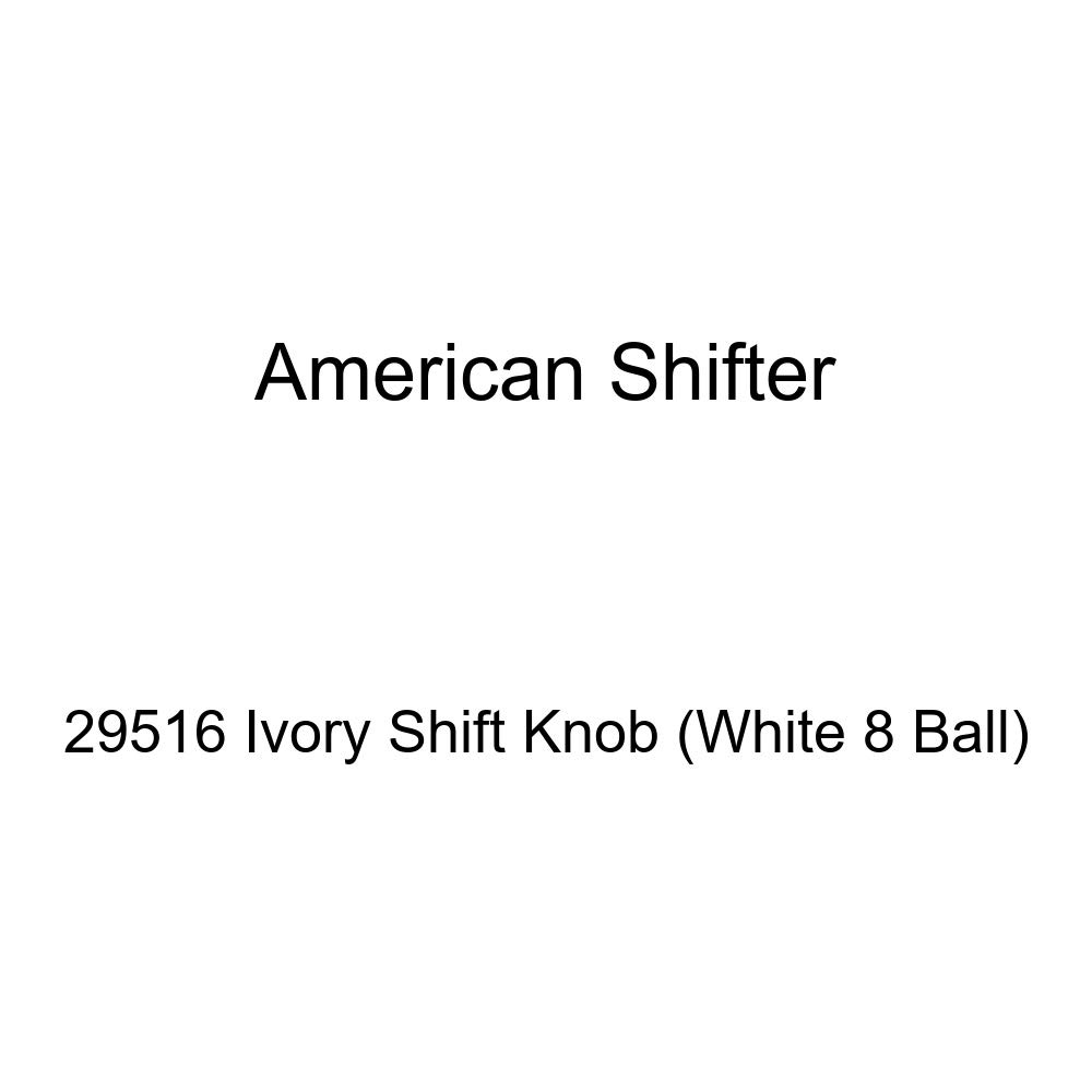 American Shifter 29516 Ivory Shift Knob White 8 Ball