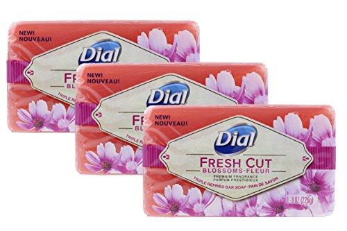 Dial Triple Refined Bar Soap, Fresh Cut Blossoms, 8 oz Lot of 3