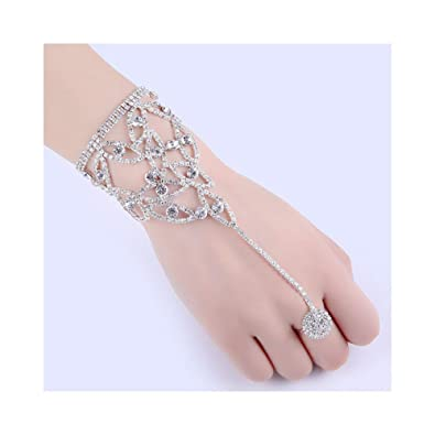 Amazon.com  Zealmer Crystal Barefoot Sandals Anklet Beach Wedding Bridal  Foot Jewelry for Women  Jewelry a8986be638f3