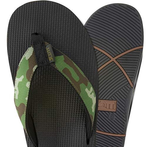 Scott Hawaii Men's Makaha Sandals | Size 12 Camouflage Flip-Flops | Soft Neoprene Lining | No Slip ()