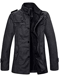 Wantdo Men's Wool Blend Pea Coat