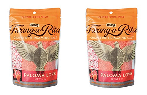 Twang-a-Rita Rimming Salt Varieties - 4 ounce pouch - (2 pack) (Paloma Love (Grapefruit)) by Twang