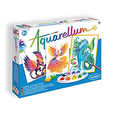 SentoSphere Aquarellum - Mythical Animals - Arts and Crafts Watercolor Paint Set: Toys & Games